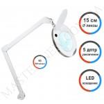 Лампа-лупа LED настольная 6014 (5 ДИОПТРИЙ) без регулировки света