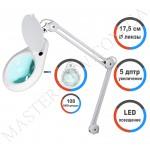 Лампа-лупа LED настольная 8062 (5 ДИОПТРИЙ) с регулировкой света