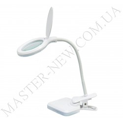 Лампа-лупа трансформер LED настольная 8096 (3 ДИОПТРИИ) с регулировкой света и USB-подключением