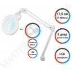 Лампа-лупа LED настольная 9006-D (5 ДИОПТРИЙ) с регулировкой света