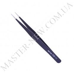 Пинцет для наращивания прямой Мастер ESD-11