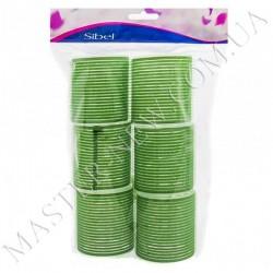Бигуди-липучки Sibel 4166549 зеленые, 61 мм (6 шт.)