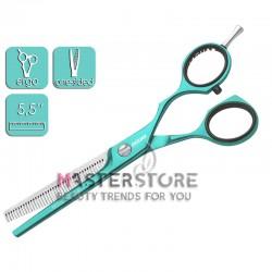Ножницы парикмахерские филировочные эргономичные односторонние Jaguar Pastell Plus Mint (5,5 дюйма)