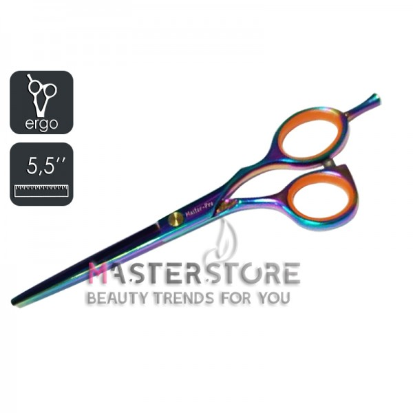 Ножницы парикмахерские эргономичные Master-Pro градиент (5,5 дюйма)