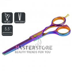 Ножницы парикмахерские филировочные эргономичные односторонние Master-Pro градиент (5,5 дюйма)