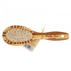 Бамбуковая массажная расческа Olivia Garden Healthy Hair, малая овальная HH-1