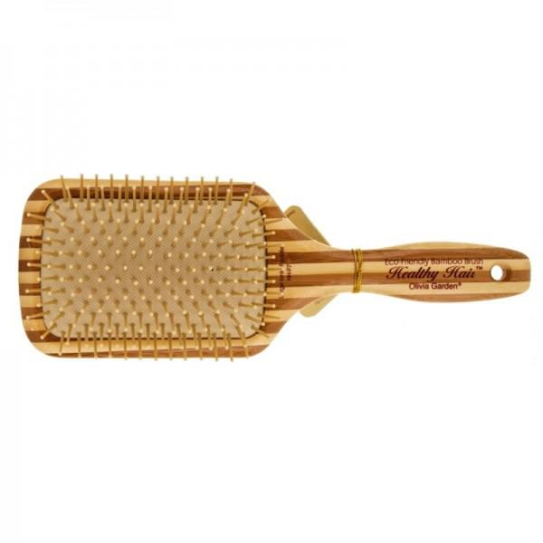 Бамбуковая массажная расческа Olivia Garden Healthy Hair, широкая прямоугольная HH-P7