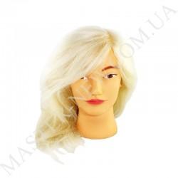Голова тренировочная, парикмахерская для моделирования причесок. Натуральная! Блонд.