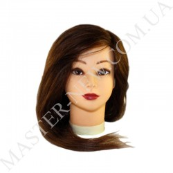 Голова тренировочная, парикмахерская для моделирования причесок. Натуральная! Шатен.