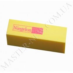 Баф для ногтей Niegelon 4-х сторонний 100/100 желтый