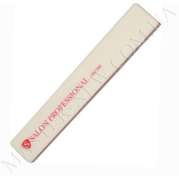 Шлифовка для ногтей Салон Salon 220/280 прямая белая