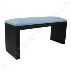 Подлокотник для маникюра голубой на черных ножках