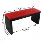 Подлокотник для маникюра красный на черных ножках