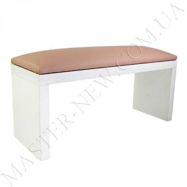 Подлокотник для маникюра нежно-розовый (чайная роза) на белых ножках