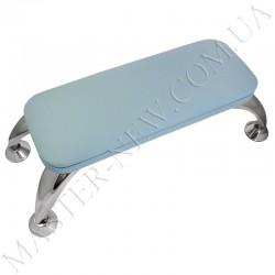 Маникюрная подставка для рук на хромированных ножках, голубая