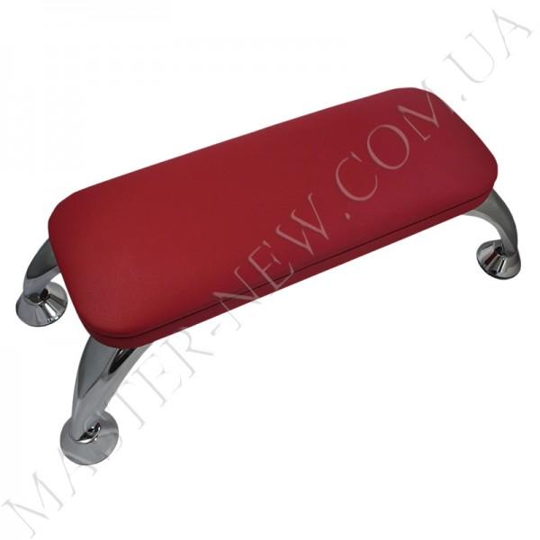 Маникюрная подставка для рук на хромированных ножках, красная
