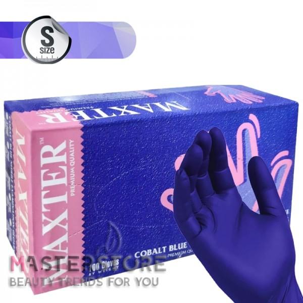 Перчатки нитриловые Maxter Cobalt Blue нестерильные темно-синие без пудры