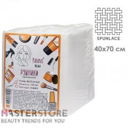 Полотенца одноразовые в пачке Panni Mlada из спанлейса 40x70 см (100 шт)