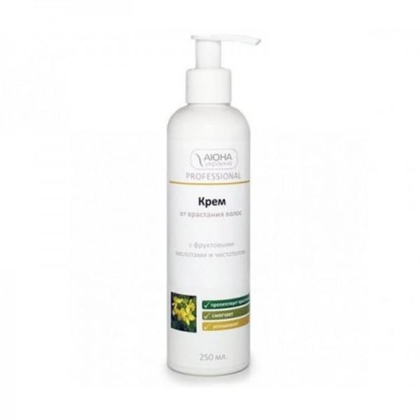 Крем от врастания волос Аюна  с фруктовыми кислотами и чистотелом (250 мл)