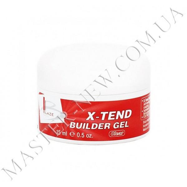 BLAZE X-Tend Builder Gel - УФ гель конструирующий средний / Clear 15 мл