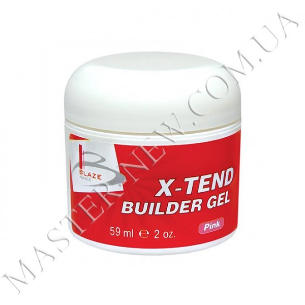 BLAZE X-Tend Builder Gel - УФ гель конструирующий средний Pink, 59 мл