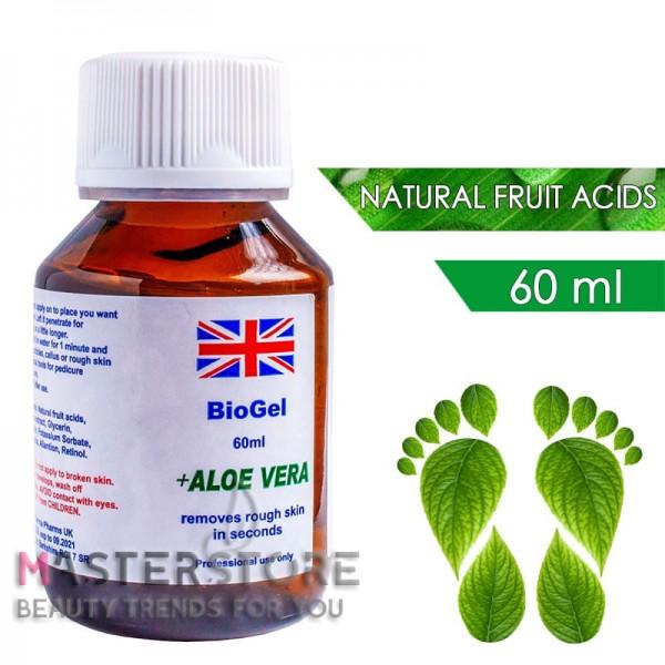 Биогель для педикюра с фруктовыми кислотами BioGel Aloe Vera (60 мл)