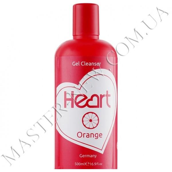 Рідина для зняття гель-лаку та очищення кистей Heart Gel Remover Orange 500 ml
