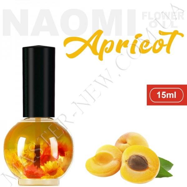 Цветочное масло для кутикулы и ногтей Naomi с экстрактом масла абрикосовых косточек (15 мл)