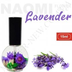 Цветочное масло для кутикулы и ногтей Naomi с экстрактом эфирного масла лаванды (15 мл)