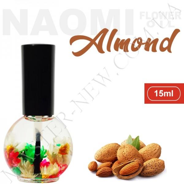 Цветочное масло для кутикулы и ногтей Naomi с экстрактом масла миндаля (15 мл)