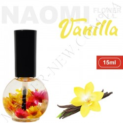 Цветочное масло для кутикулы и ногтей Naomi с экстрактом эфирного масла ванили (15 мл)