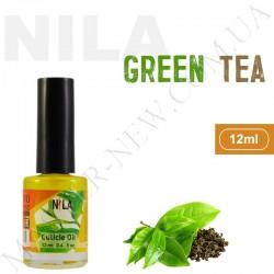Увлажняющее масло для кутикулы и ногтей Nila Green Tea (12 мл)