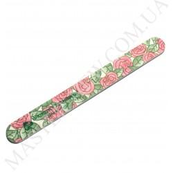 Пилочка для ногтей DUP Чехия 120/200 узкая прямая роза
