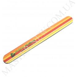 Пилочка для ногтей DUP Чехия 150/200 узкая прямая оранжевая с полосками