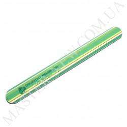 Пилочка для ногтей DUP Чехия 150/200 узкая прямая зеленая с полосками
