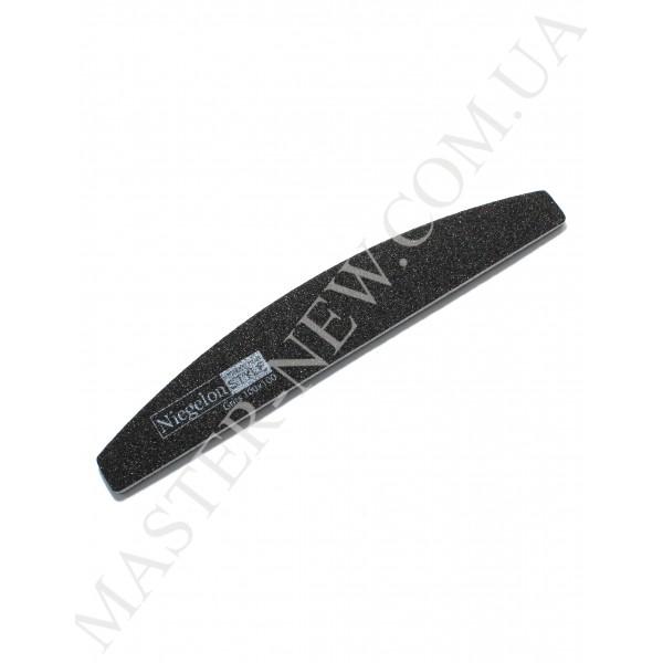 Niegelon 100/100 Half Мягкая пилочка для ногтей полукруг черная