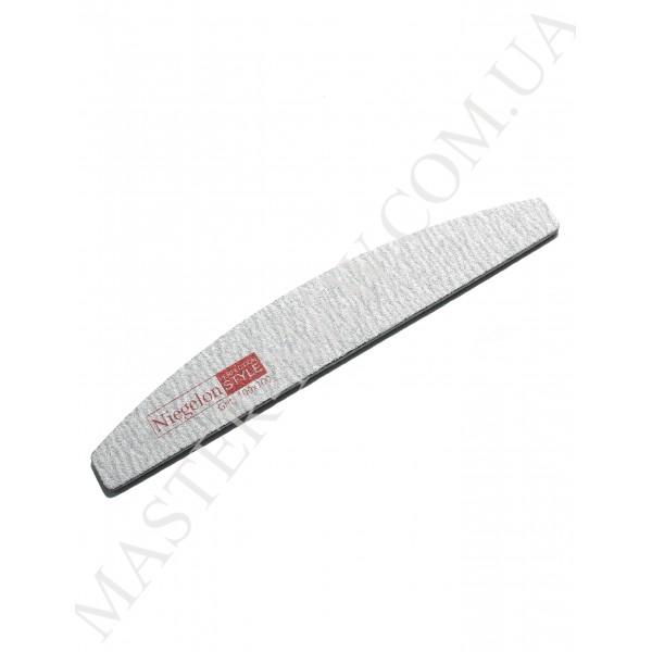 Niegelon 100/100 Half Мягкая пилочка для ногтей полукруг серая