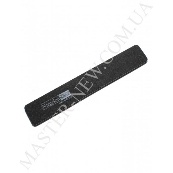Niegelon 100/180 Мягкая пилочка для ногтей прямая черная