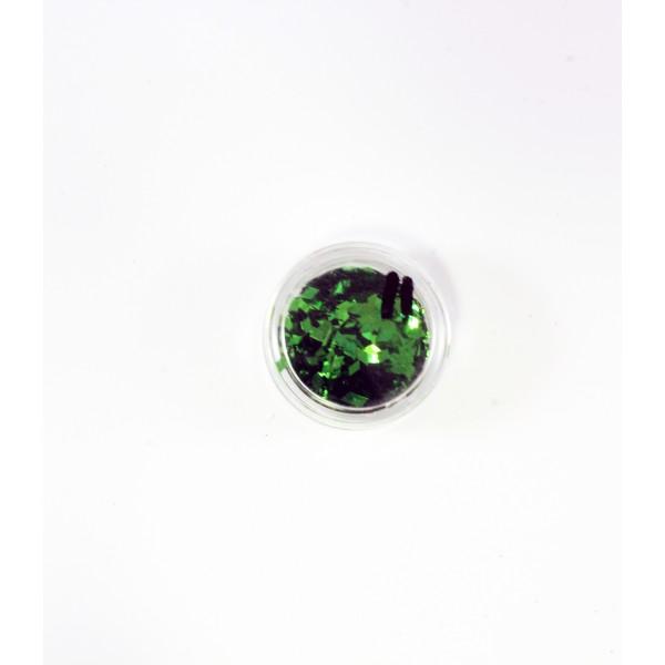 """Конфетти """"Ромбики"""" зеленые в баночке 9058245"""